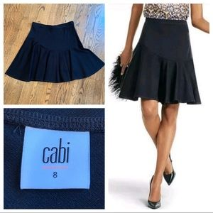 CAbi black knit skater skirt - mermaid style 8